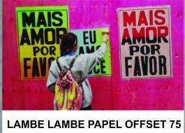 LAMBE LAMBE offset 75grs sem revestimento, bem fininho. até 1,50 m saida    varios modelos sem acrescimo